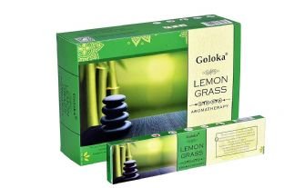 Goloka | Lemongrass | Aromatherapy Incense  | 1 x 15 g Box